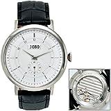 JOBO Herren-Armbanduhr Handaufzug Edelstahlgehäuse Glasboden Safirglas
