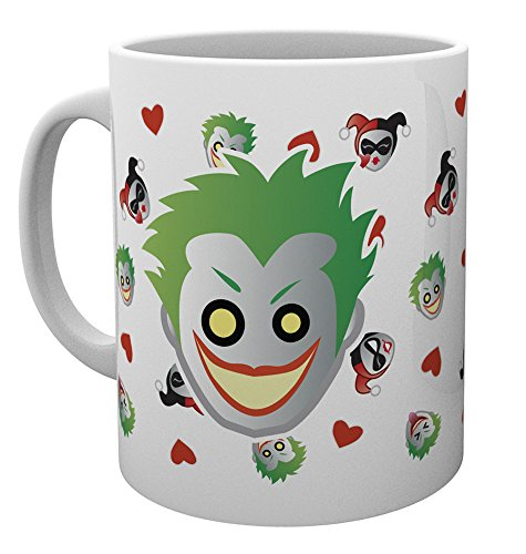 GB Eye LTD, DC Comics, Emoji Harley and Joker, Taza