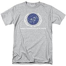 Star Trek - T-shirt - Manches Courtes - Opaque - Homme gris gris