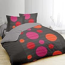 Funda nórdica y dos fundas para almohada (260 cm) Pop bolas Fuscia