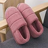 YSFU Hausschuhe Pantoffel Frauen Einfarbig Bottom Soft Home Hausschuhe Warme Baumwolle Frauen Männer Indoor Slip-On Schuhe Für Schlafzimmer Haus, 36