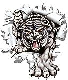 Aufkleber Einschussloch 90 mm Motiv Tiger ~~~~~ schneller Versand innerhalb 24 Stunden ~~~~~