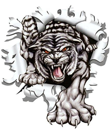 Aufkleber Einschussloch 90 mm Motiv Tiger ~~~~~ schneller Versand innerhalb 24 Stunden ~~~~~ Tiger Aufkleber