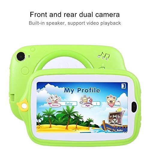 Fulltime E-Gadget 7 Zoll Kinder Android 4.4 Tablet PC,512MB+ 8G Quad-Core WiFi Kamera Kinder Geschenk Tablet PC (Grün)