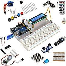 KOOKYE Uno R3 ATmega328 completo kit de arranque para Arduino con 19 proyectos