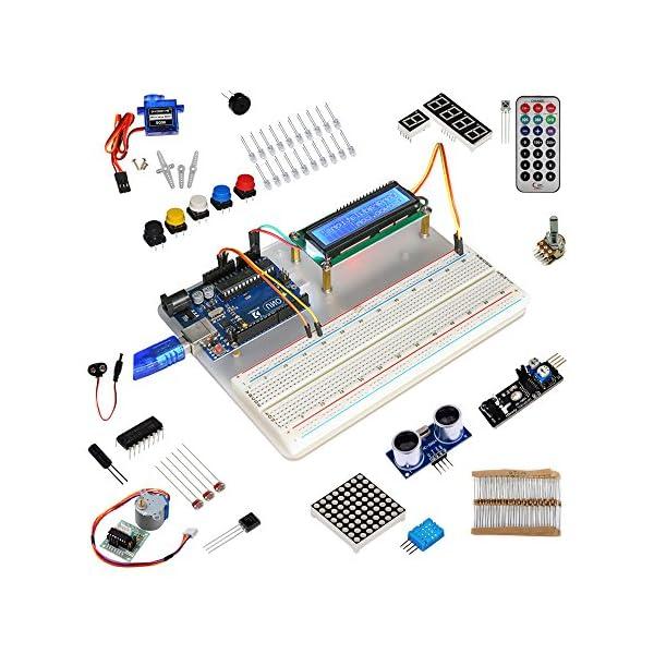 51TiMcN0VAL. SS600  - KOOKYE Uno R3 ATmega328 completo kit de arranque para Arduino con 19 proyectos