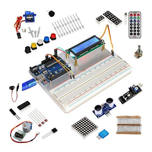 51TiMcN0VAL - KOOKYE Uno R3 ATmega328 completo kit de arranque para Arduino con 19 proyectos