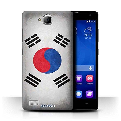 Stuff4® Hülle/Case für Huawei Honor 3C / Korea/Koreanische Muster/Flagge Kollektion