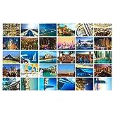 Schöne Reise-Landschaft 30PCS Künstlerische Retro Postkarten-Dubai