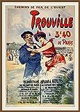 PostersAndCo ™ Trouville Plage Rmhh- Poster/Reproduction 30x42cm d'1 Affiche Vintage/Ancienne/RéTRO (BE*)...