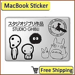 "Haut en Miyazaki Hayao Studio Ghibli Sticker Autocollant pour ordinateur portable Macbook Pro 13 ""Pegatina Coque de protection en vinyle"