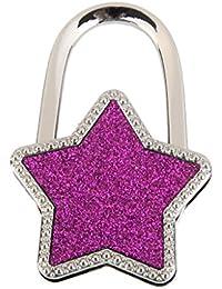 Unisex Estrellas Mesa Plegable Bolso Del Monedero Percha Hangbag Titular Gancho Purpura