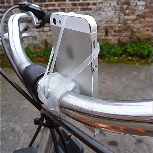 MMRM Silikon-Gummiband Fahrrad-Motorrad-Smartphone Lenkerhalterung Halterung für iPhone 5/6 / 6S Plus-Galaxy S6 / S5 Hinweis LG Schwarz