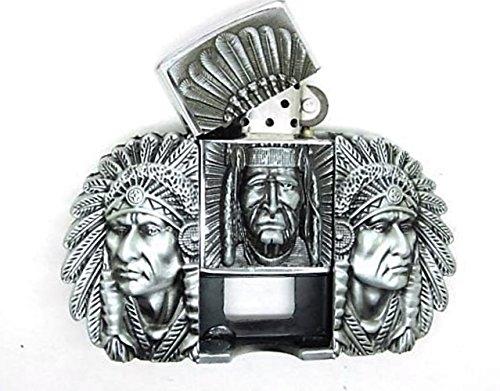 American Indianer Native Feuerzeug Metall Gürtelschnalle (Gürtelschnallen Native American)