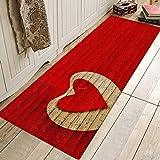 RYX Alfombras de Amor románticas Puerta de la casa Alfombra de la Puerta Alfombra de la Alfombra Dormitorio Cocina baño Alfombra de baño Alfombra,C