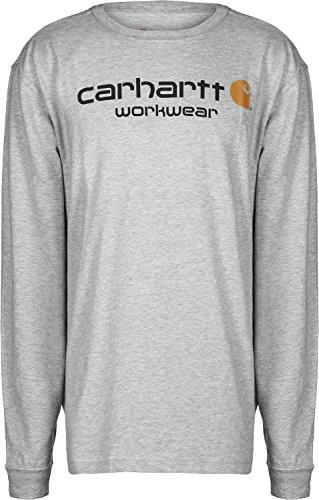 Carhartt Core Logo Shirt 102564, Grau, S