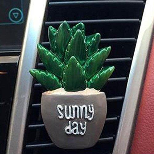 Sedeta® Kreatives Auto Parfüm Outlet-Clip Cactus Auto-Duftstoff-Ordner Für Auto-Vent Clip Air Refresh Zubehör Ordner Aloe (Liebe Aloe)