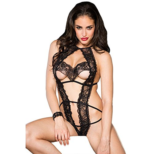 Price comparison product image Lingerie Sets Sexy lingerie_170112amazon women's new sexy underwear lace dew breast sex transparent - alibaba-A S