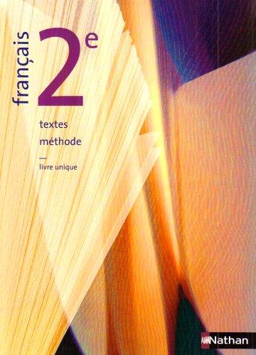Français 2e : Textes, méthode par Pierre Aurégan, Christian Denis, Michel Maillard, Sylviane Obadia