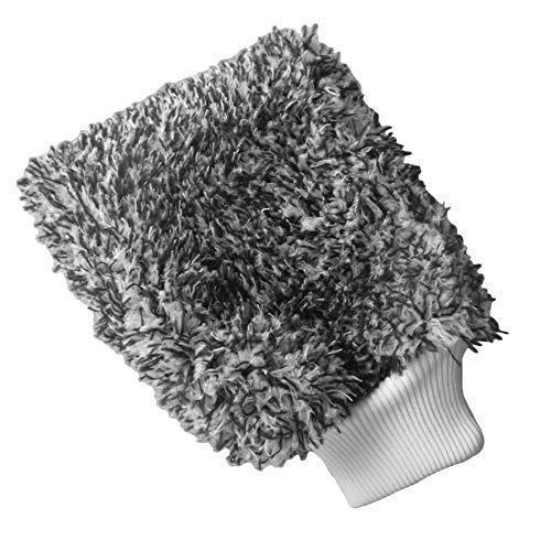 LIANGEGE Autowaschlappen Soft Absorbancy Glove High Density Auto Reinigung Ultra Soft Leicht zu trocknen Auto Detaillierung Mikrofaser Madness Waschhandschuh Tuch Handtuch Schwarz