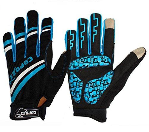COPOZZ Outdoor Gloves for Men & Women (Blue, L)
