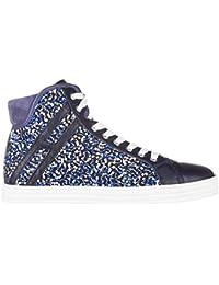 Hogan Rebel Scarpe Sneakers Alte Donna in Pelle Nuove r182 Polacco Viola c592d70f604