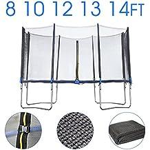 Alta calidad 6ft 8ft 10ft 12ft 13ft 14ft 16ft cama elástica red de seguridad de repuesto Enclosure surround-net sólo