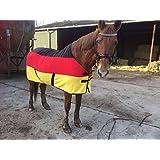 [Gesponsert]Transport- und Abschwitzdecke Polarfleece Deutsche Flagge (Rückenlänge: 160 cm)
