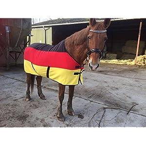 [Gesponsert]Transport- und Abschwitzdecke Polarfleece Deutsche Flagge (Rückenlänge: 120 cm)