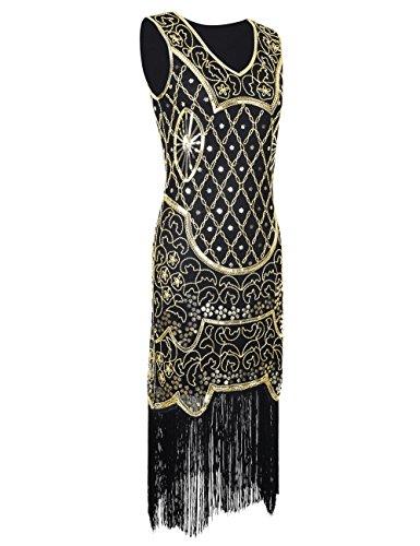 Kayamiya Damen 1920er 20er Art Deco Inspiriert Flapper Großes Gatsby ...