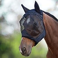 Harrison Howard CareMaster Máscara Anti-moscas Protección Con Orejas Negro (M; Cob)