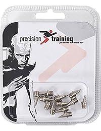 Precision Training Tartán Deportes zapatilla de running pista de atletismo Spikes–Pack de 6 Plateado plata