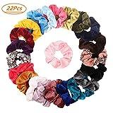 Lot de 20chouchous en velours élastique Elastiques Chouchou Cheveux Ties Cordes Chouchou pour femme ou filles Accessoires...