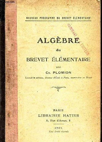 ALGEBRE DU BREVET ELEMENTAIRE
