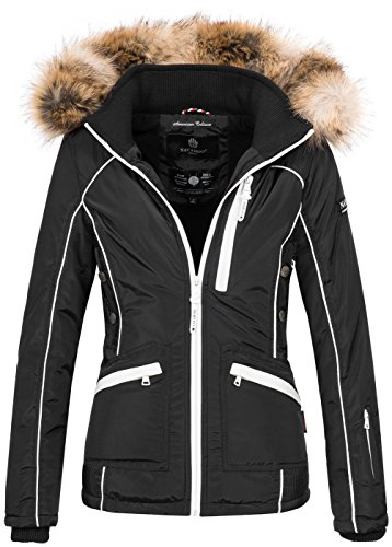 Navahoo Damen Winter Jacke Outdoor Winterjacke Warm gefüttert Parka B649