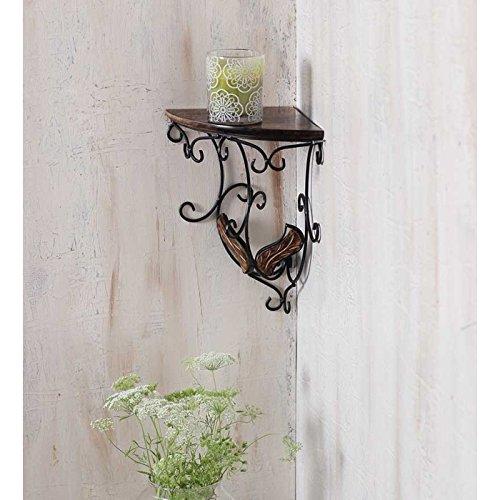 Onlineshoppee Beautiful Wooden Decorative Corner Wall hanging Bracket Shelf/selves for Living room/Bed Room Decoration