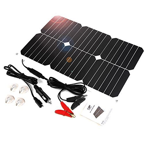 ALLPOWER Solar Panel Battery Maintainer 18V 12V 18Watt Solarzelle Auto Boot Power Panel Ladegerät Wartung für Auto Motorrad Traktor Boot Batterien 12V Batterien -