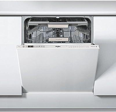 Whirlpool WKCIO 3T123 PEF Totalmente integrado 14cubiertos A++ lavavajilla - Lavavajillas (Totalmente integrado, Plata, Tamaño completo (60 cm), Plata, Botones, 1,3 m)