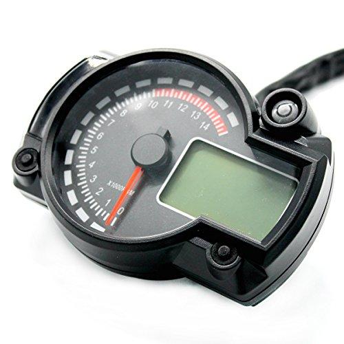 periwinkLuQ 7 Farb-Drehzahlmesser 12 V Motorrad LCD Digitales Instrument Modul Ölmessgerät