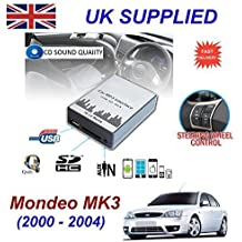 FORD MONDEO MK3 (2003 -2007) MP3 SD USB CD AUX entrada de Audio