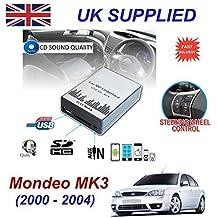 FORD MONDEO MK3 (2003 -2007) MP3 SD USB CD AUX entrada de Audio