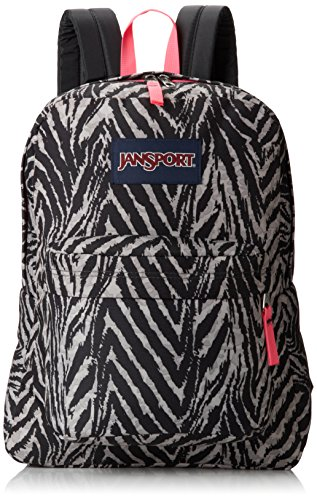 JanSport Superbreak grau wild at heart - Jansport Superbreak Rucksack Schule