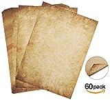 60 Blatt Briefpapier Altes Papier Vintage Absofine Alt Casanova Mittelalterliches