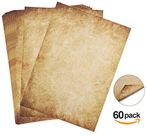 altes Papier Papyrus doppelseitiger Offset-Druck, 90g//qm Vintage Papier