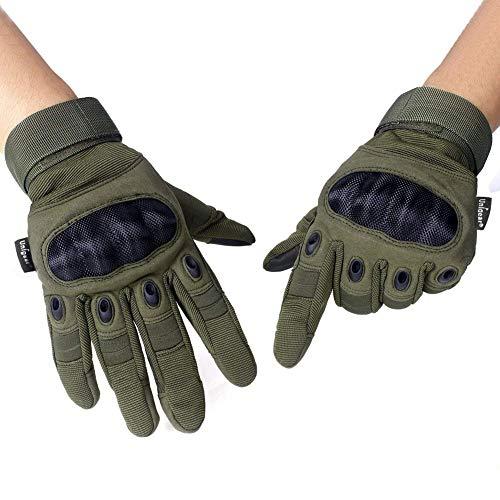 Lucky-all star un paio moto guanti da equitazione guanti tattici, in fibra di carbonio, can be touch screen per motociclette, sci, militare, airsoft