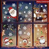 heekpek Noël Stickers Vitres Decoration de Noël, Hiver Chrismas Décoration Autocollants - Amovibles Statiques en PVC Noël Magasin Fenêtre Décoration 13