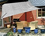 Eduplay Sonnensegel, 3,5x4,5m, Rechteck, grau
