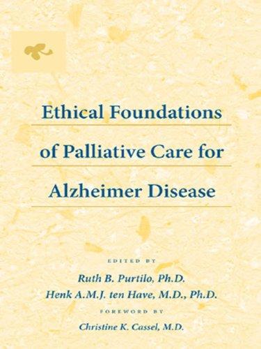 Ethical Foundations Of Palliative Care For Alzheimer Disease por Ruth B. Purtilo epub