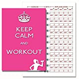 Exercise Training Diary, Exercise Journal / Pink Diary for Ladies who love the Gym