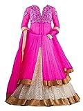 #10: MAHAVIR FASHION Girls Kids Rani Pink Georgette and Net Lehenga Choli Material For Kids Wear (5-12 Yrs)